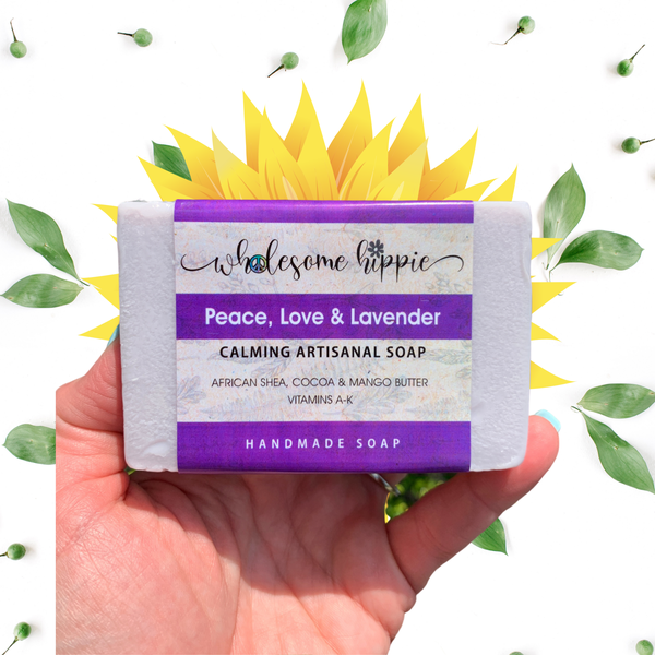 6.6oz Peace, Love & Lavender Calming Soap