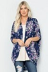 NAVY FLORAL CARDIGAN - BE STAGE