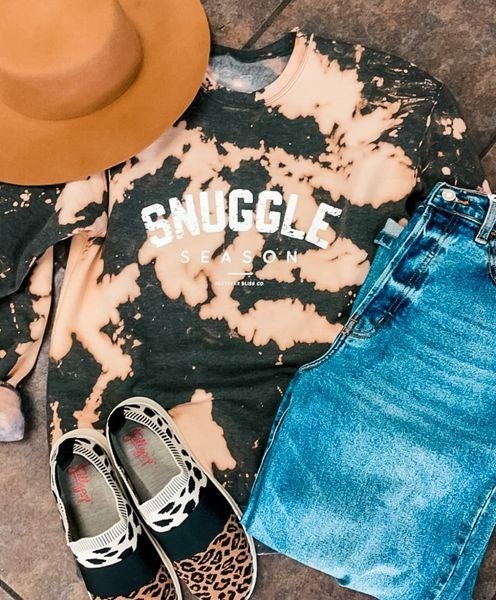 Snuggle Season Bleached Graphic Sweatshirt