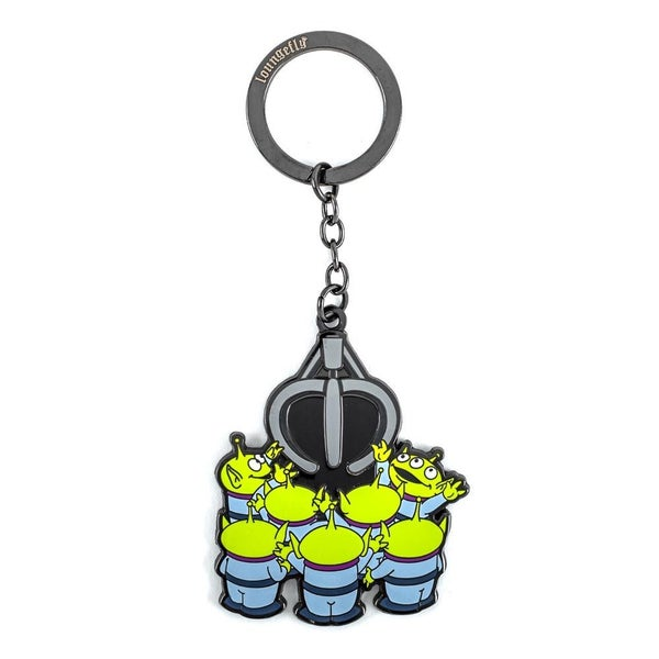 LOUNGEFLY X PIXAR TOY STORY ALIENS AND CLAW ENAMEL KEYCHAIN