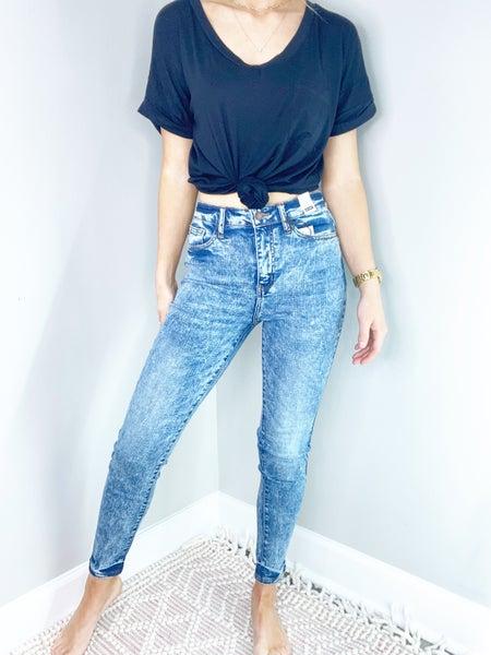 Judy Blue High Waist Acid/Mineral Washed Skinny Jeans