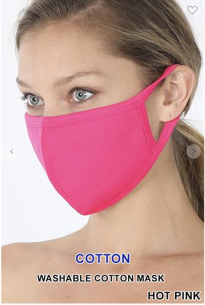 Solid Color Cotton Masks ***Multiple Colors