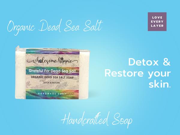 6.6oz Organic Grateful For Dead Sea Salt Handmade Soap