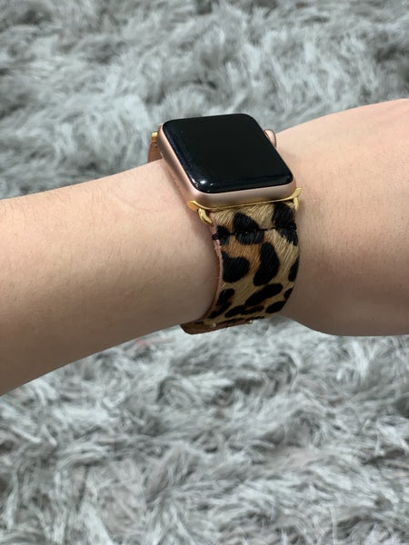 Apple Watch Band - Leopard Snap Clasp 42MM