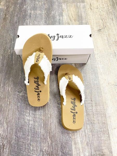Gypsy Jazz GJazz White Flip Flops
