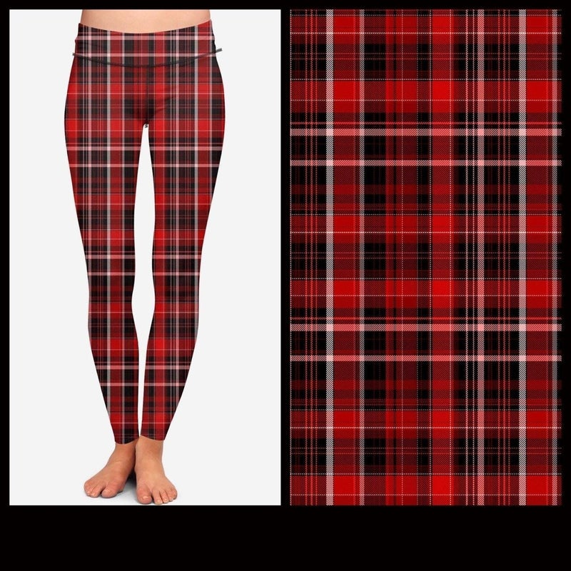 Christmas Plaid Kids' Leggings