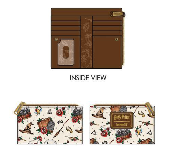 LOUNGEFLY X HARRY POTTER TATTOO AOP WALLET