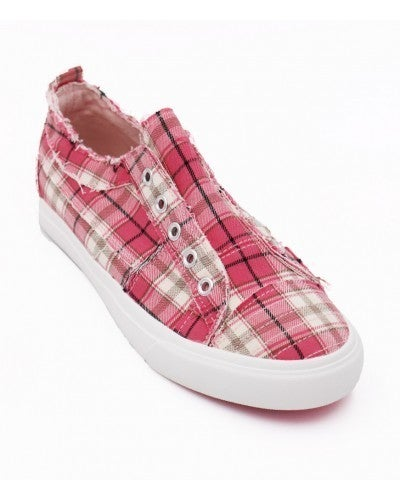 Corkys Babalu Pink Plaid Shoes