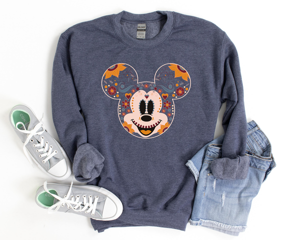 SUGAR SKULL MICKEY | Graphic Sweatshirt