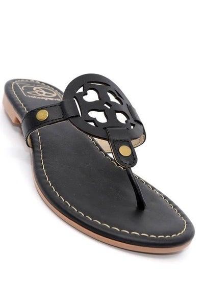 SIZE 6 ONLY - Miami Shoe Black Sandals
