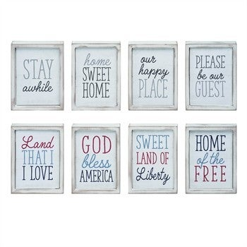MDF Americana/Home Block Decor 4 To Choose From