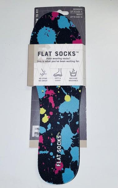 Womens Mesh Flat Sock Blue Paint