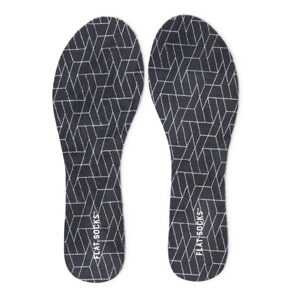 Womens Terry Flat Sock Black