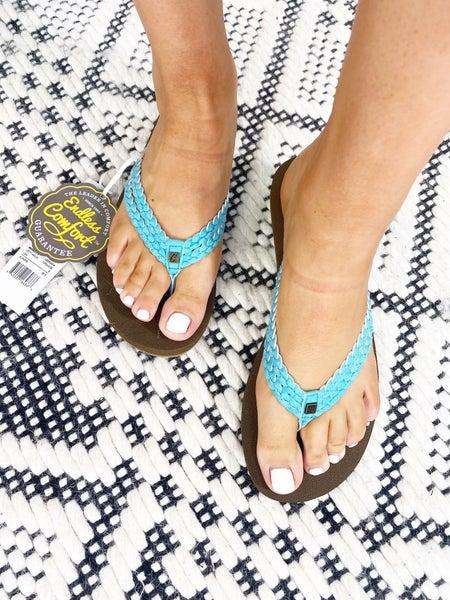 Leucadia Turquoise Flip Flops