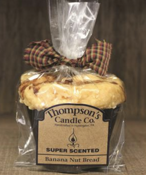Banana Nut Bread Muffin Candle