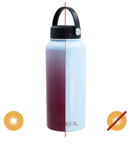 Del Sol Color Changing Water Bottle - Blue to Pink