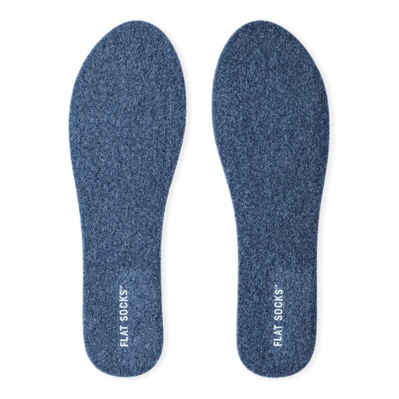 Mens Micro Wool Flat Sock Indigo