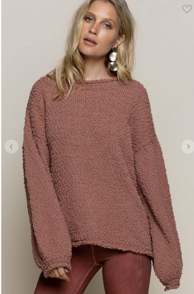 Dusty Cedar Loose Fitting Sweater