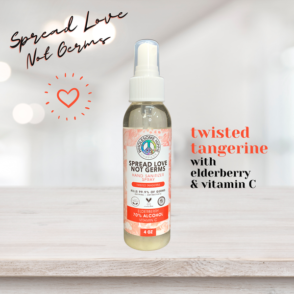 4oz WH Spread Love Not Germs