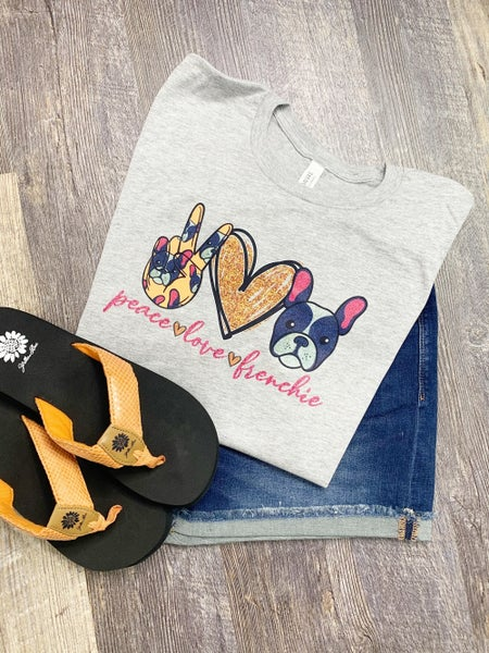 Peace | Love | Frenchie Graphic Tee