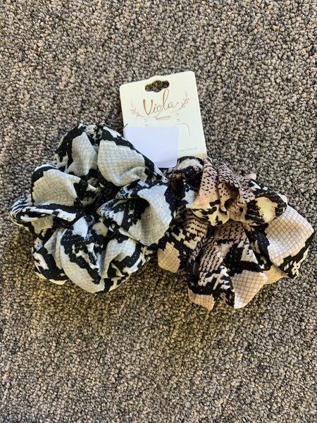 Snakeskin Scrunchie Set