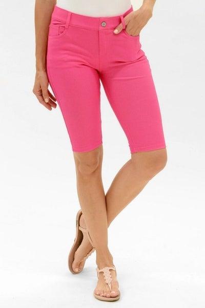 Women's Classic 5 Pocket Bermuda Shorts in Fuchsia