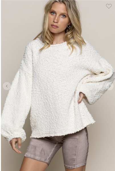 Almond Loose fitting Sweater