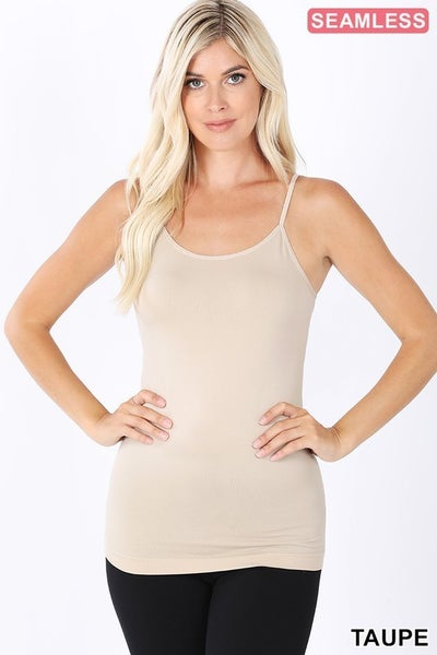 !Seamless Adjustable Strap Cami ***MULTIPLE COLORS***