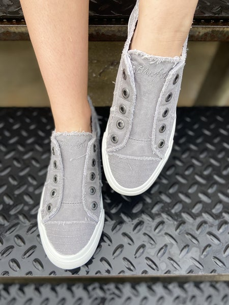 Blowfish Light Gray Hipster Canvas Shoes