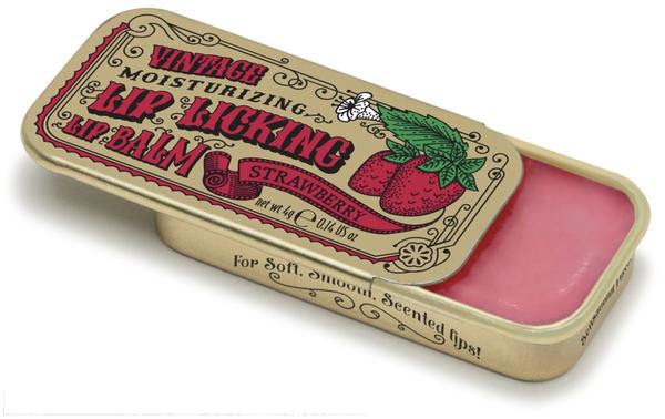 Vintage Lip Balm   Lip Licking Balm • STRAWBERRY