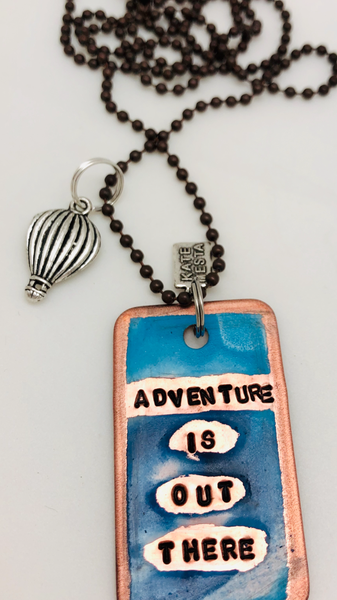 Kate Mesta Adventure is Out There necklace