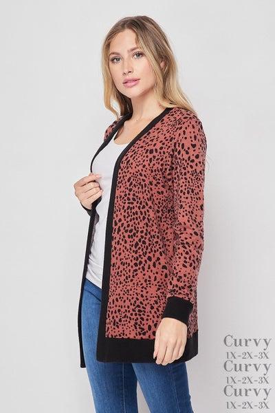 HoneyMe Leopard Cardigan