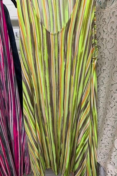 Sleeveless Lime Dress With Pockets