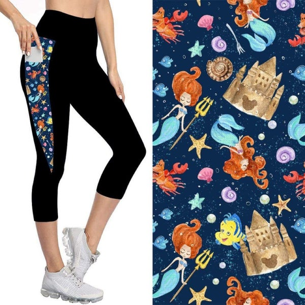 Kids' Capris with Pockets   Under the Sea