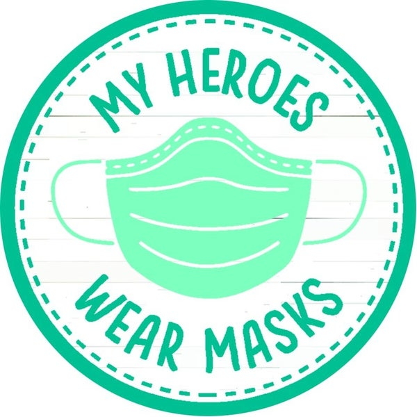 Heroes Wear Masks Car Magnet