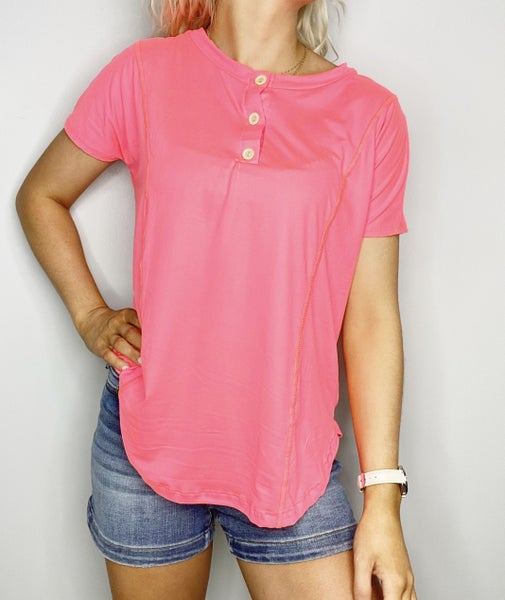 Neon Coral Top