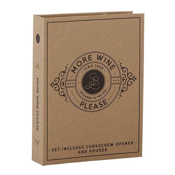 Cardboard Book Set - Wine Stopper