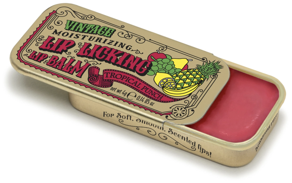 Vintage Lip Balm   Lip Licking Balm • TROPICAL PUNCH