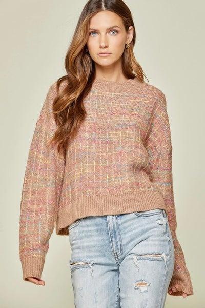Space Dye Sweater in Mocha
