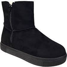 SIZE 5.5 ONLY - Bamboo Basic Comfort Black Booties - CODE GOTTAGO