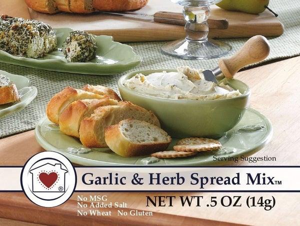 Mini Garlic & Herb Spread Dip Mix
