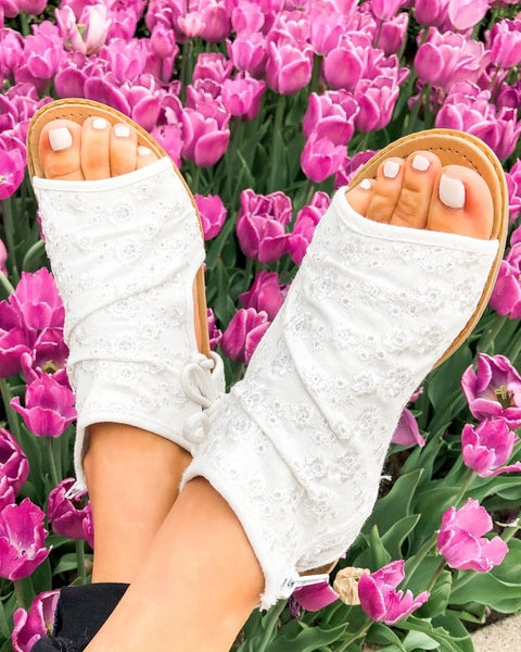 Luxe & Mix White Sandals