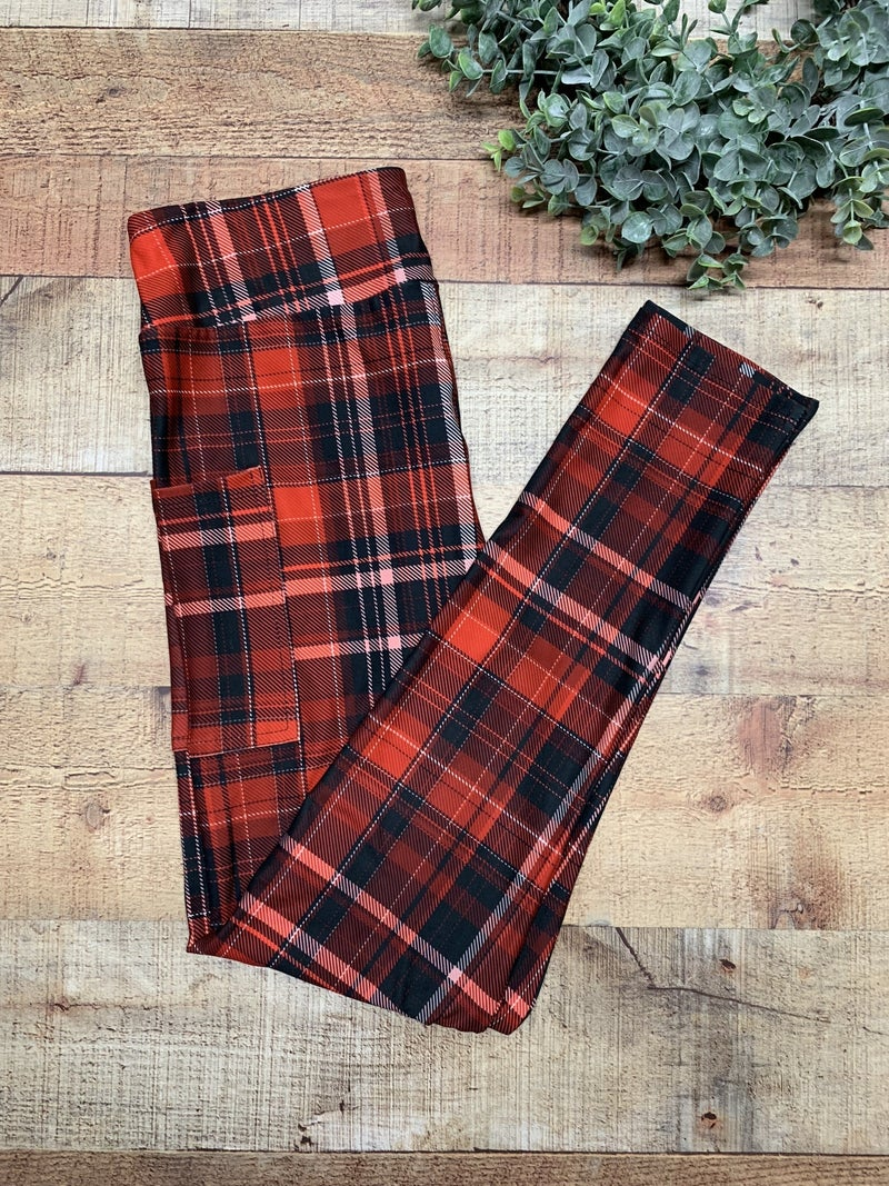 Christmas Plaid Adult Leggings