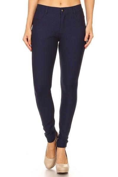 Zipper/Button front Ladies Ponte Pants - True to size *Final Sale*