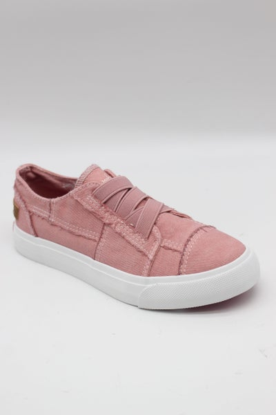 Blowfish Marley - Kids' Dusty Pink Color Washed Canvas Slip On