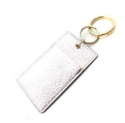 Silver Genuine Leather Wallet Key Ring, Best Seller!