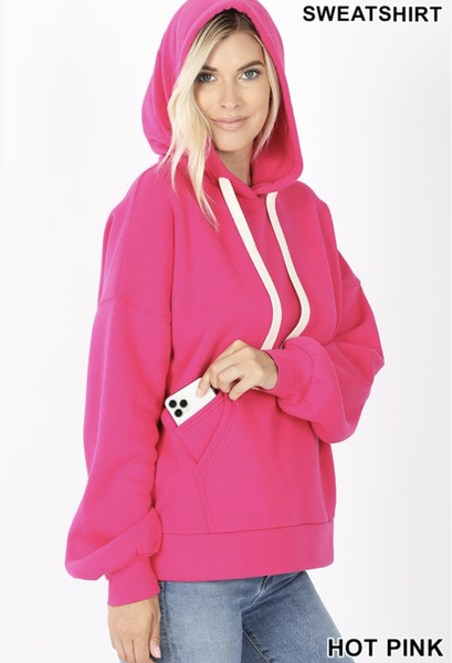 Hoodie with Kangaroo & Cell Phone Pocket ***Multiple Colors