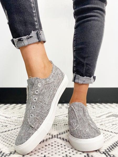 Corkys Babalu Gray Tweed Sneaker
