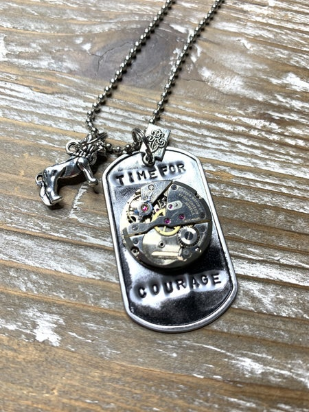 ONLY 2 LEFT! - Kate Mesta Black & Silver Collection Time For Courage