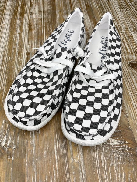 Black and White Raceway Sneakers